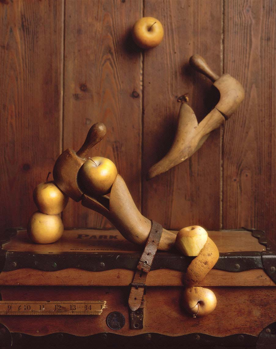 Shoe lasts and Russet apples